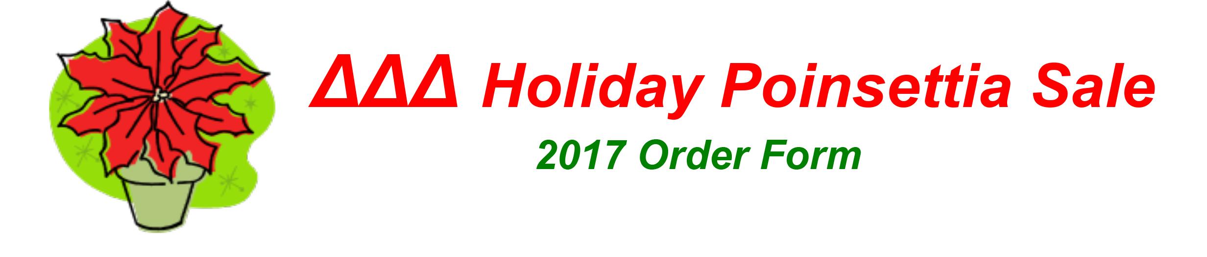 Microsoft Word - DDD Holiday Poinsettia Sale 2017.docx